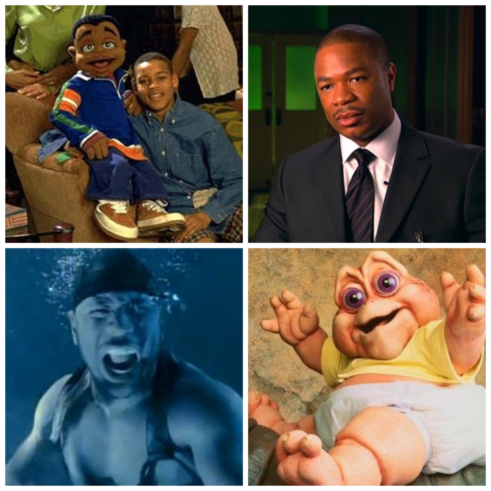 Cousin Skeeter. Xzibit. LL Cool J. The baby from Dinosaurs. This will all make sense once you've listened to the first episode.