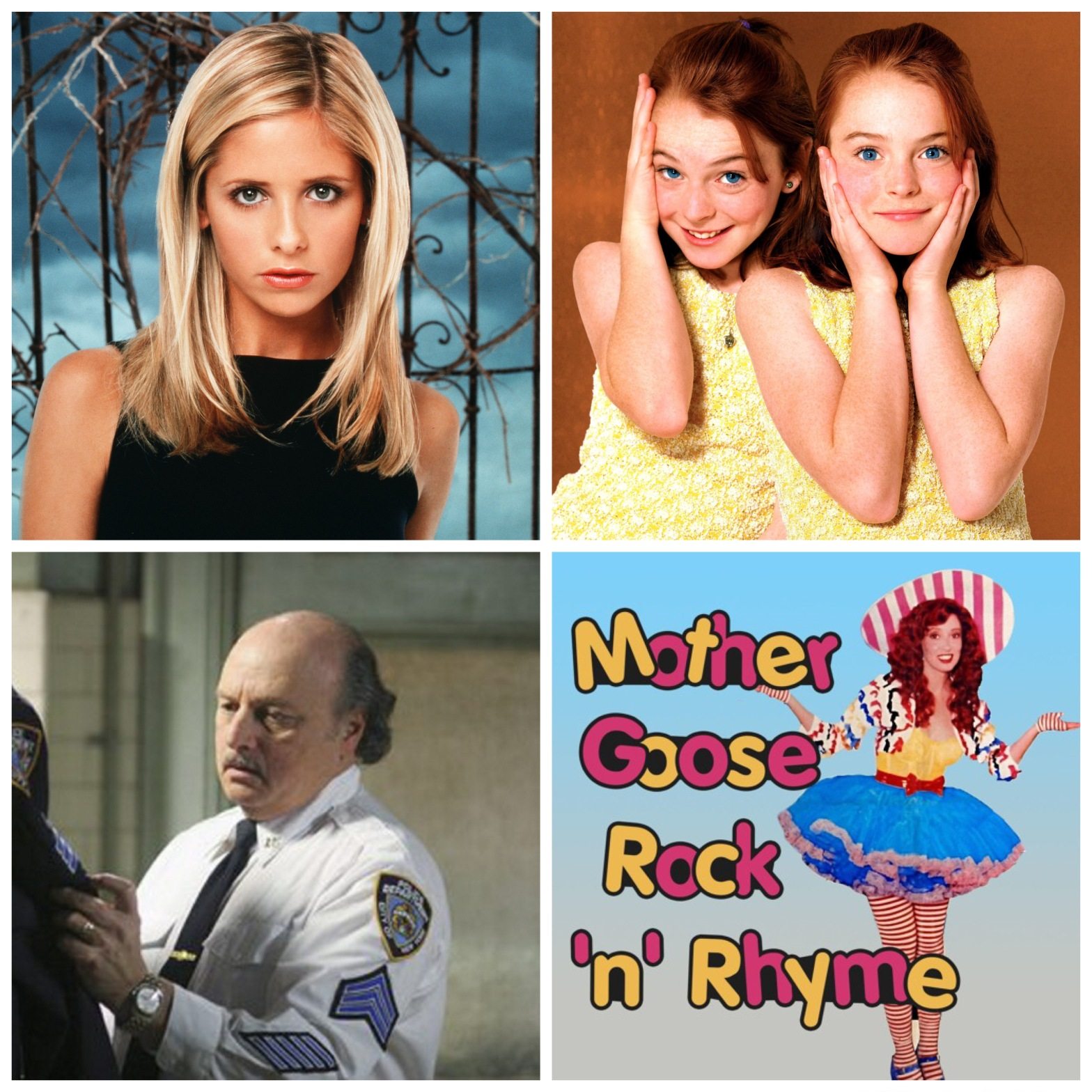 Sarah Michelle Gellar. Lindsay Lohan in The Parent Trap. The guy you think of when you hear NYPD Blue. And Shelley Duvall's Mother Goose Rock N Rhyme. All this will make sense when you listen to this week's podcast episode.