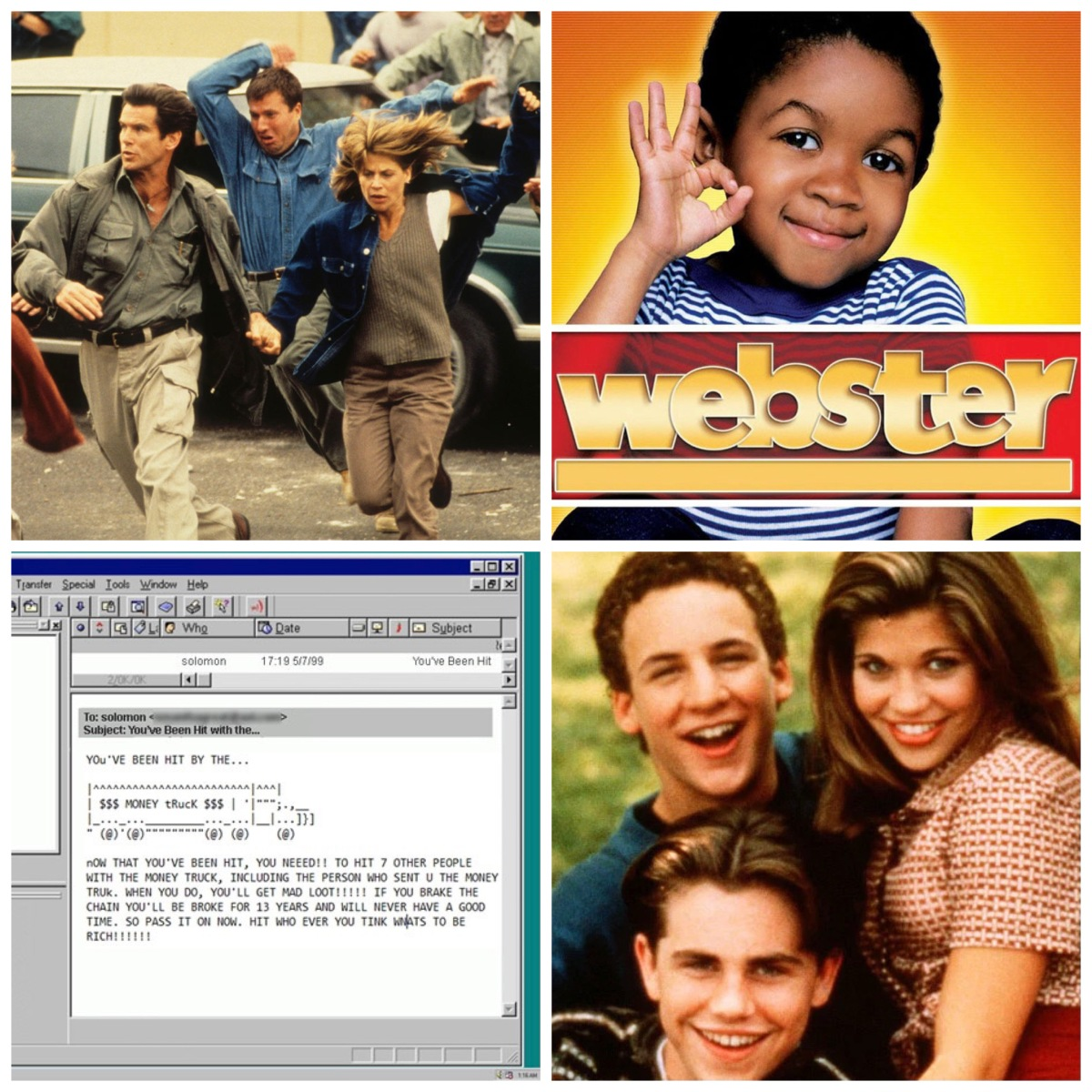 Daunte's Peak, Webster, chain emails, and Boy Meets World.