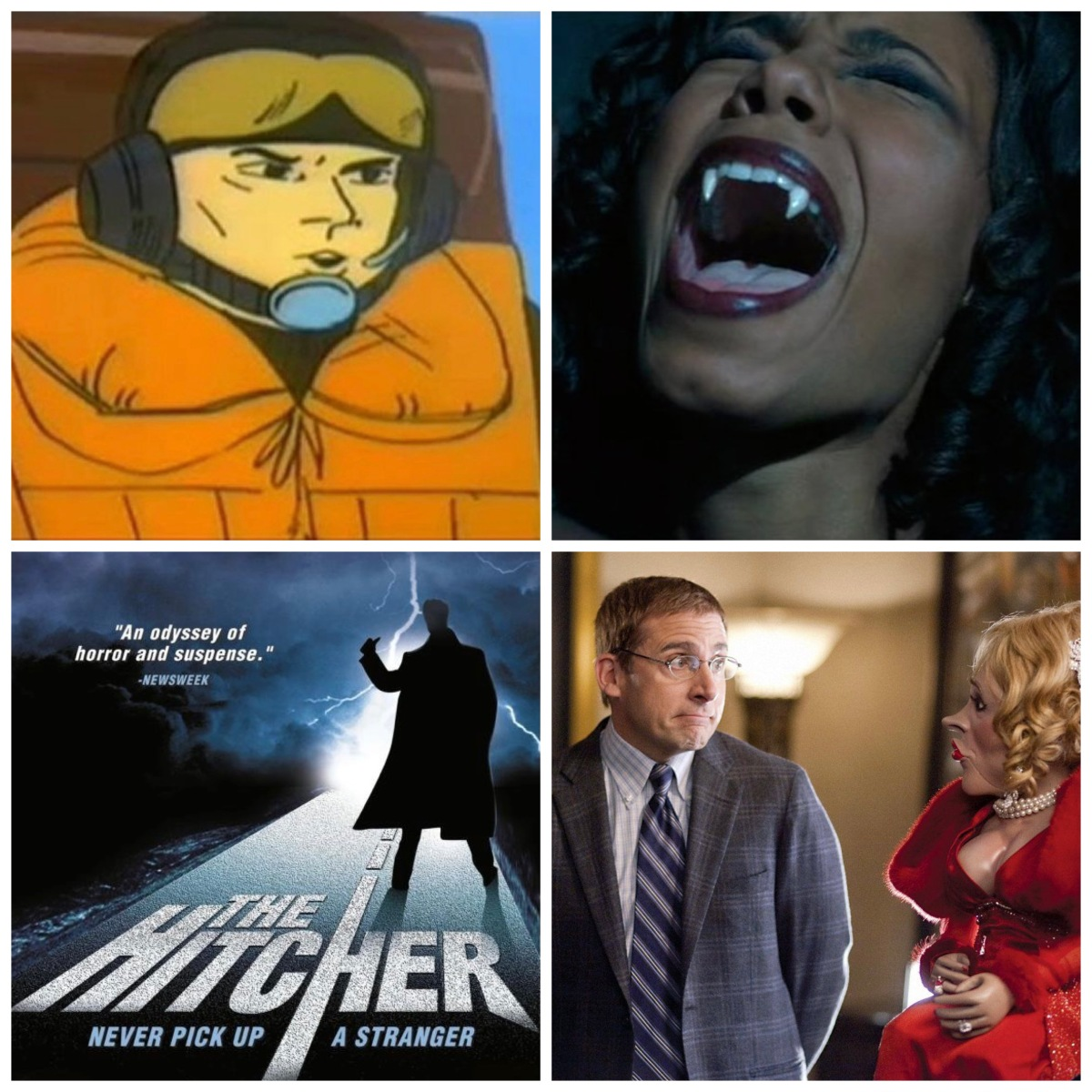 Chopper Dave from Sealab 2021, Blade's mom, The Hitcher, and Dinner For Schmucks.