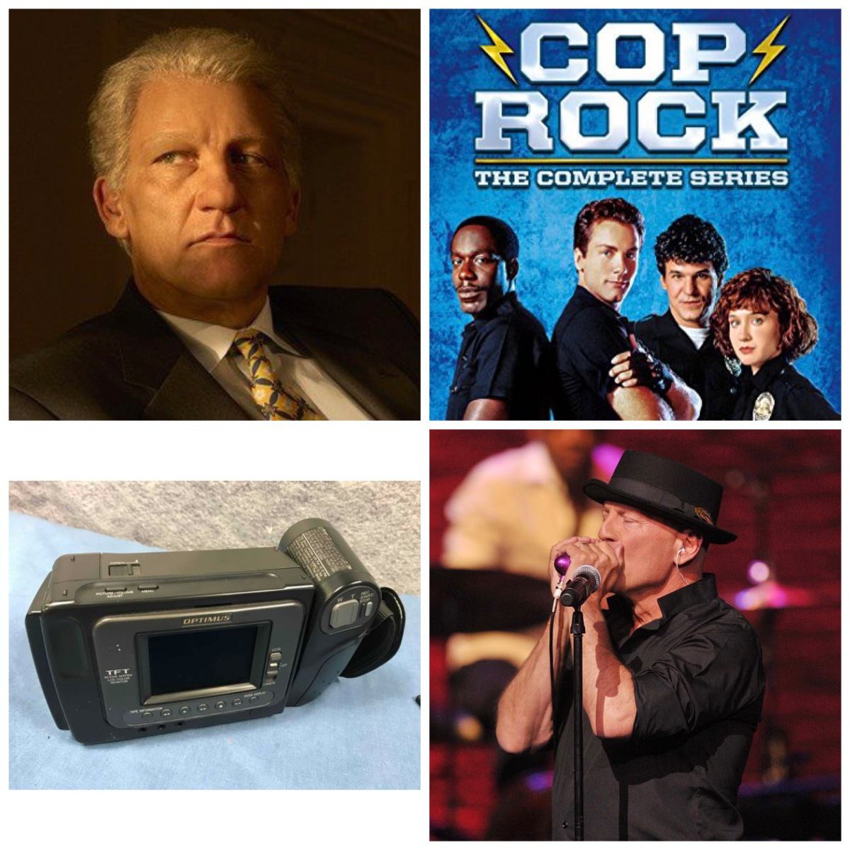 Clive Owen as Bill Clinton, Cop Rock, an Optimus Camcorder, and Bruce Willis playing the harmonica.